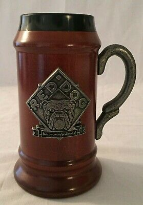 Miller Red Dog Limited Edition Sampson Collectible Wooden Stein