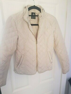 Primark Girls Atmosphere Cream Quilted Padded Jacket Coat Size 6