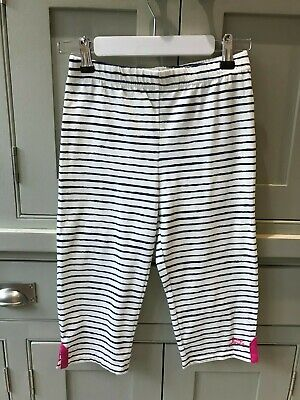 BNWOT Joules girls age 9-10 striped cropped 3/4 leggings 100% cotton