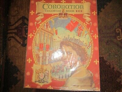 1953 cutout vintage coronation coloring book and paper doll and  fashions