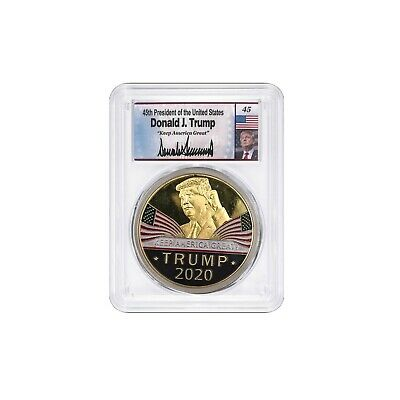 """Donald Trump Signed 2020 Coin """"Keep America Great!!!!"""""""