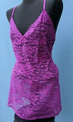 In Bloom By Jonquil Chemise Size PS Spaghetti Strap Pink Lace Free Ship