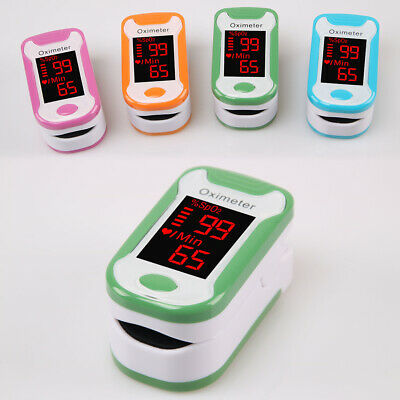 Fingertip Pulse Oximeter Oximetry Blood Oxygen Heart Rate Monitor SpO2 Monitor