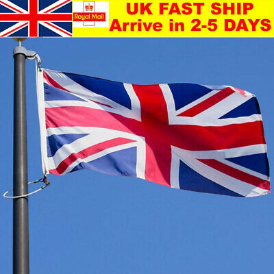 5 x 3FT Large Union Jack Flag Great Britain Fabric Polyester GB Sport UK
