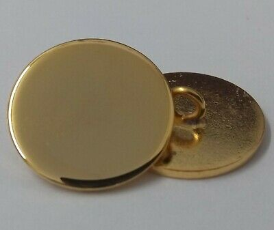 Genuine British Made Flat Hi Sheen Blazer Jacket Brass Colour Buttons 32L ASBT70
