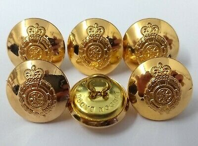 Genuine British Military Issue E R II Queens Livery Crown Gilt Buttons 38L NEW