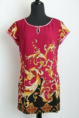 Vietnamese Ao Blouse Hot Pink w Floral Design