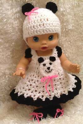 13 Inch Doll Clothes.Fits baby Alive and Similar Sized Dolls.Panda Dress Set