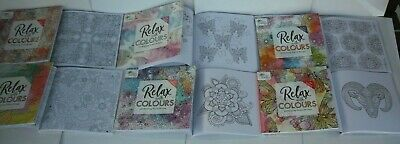 MIND RELAXING COLOURING BOOK BOOKS Adult Stress Relief Colour Therapy ANIMALS