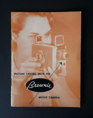 1952 KODAK BROWNIE 8mm Movie Camera Instruction Booklet