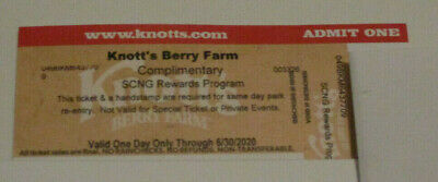 Two (2) Knott's Berry Farm Admission Tickets - Valid One Day Only Thru 6/30/2020
