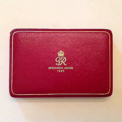 ~ 1937 Great Britain Royal Mint 15 Coin Proof Set Case Only - No Coins