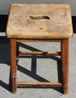 1890's 2 Country Farmhouse Antique Pine Stools