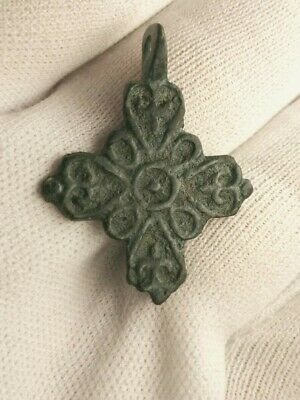 Ancient viking artifact amulet cross 10-12 century A.D
