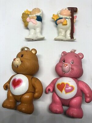 Vintage Care Bear Poseable Figures And Cloud Keepers Toy Vinyl 1980s