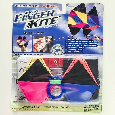 Kite Factory Micro Finger Kite Perfect for Flying in the Garden Star Box Kite