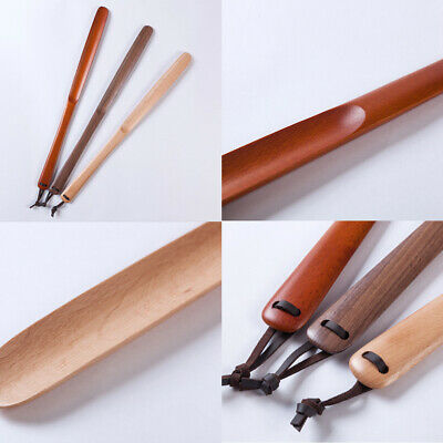 Portable Aid Tool Shoe Horn For Boots Wooden Lifter Home Long Handle Accessories