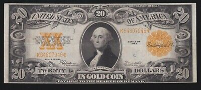 US 1922 $20 Gold Certificate FR 1187 VF-XF (-946)