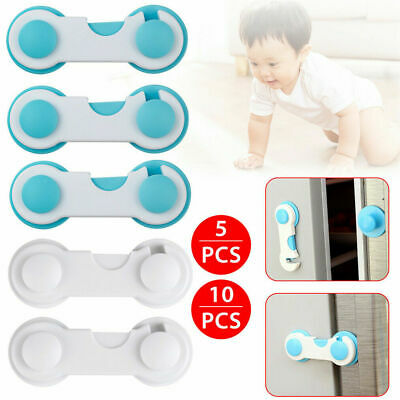 1/5/10 Child Baby Cupboard Cabinet Safety Locks cabinet Door Drawer  Safety Lock