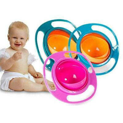 Baby Kids Universal 360 Rotate Spill Proof Infant Feeding Dishes Gyro Bowl US