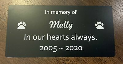 Pet Memorial Plaque personalised (Durablack)