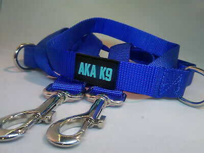 AKA K9 BLUE Dog Lead Police Style Leash Multi-Function Double Ended Strong UK
