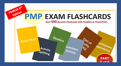 600 PMP Exam Flashcards Dynamic Colorful + Bonus items PMI