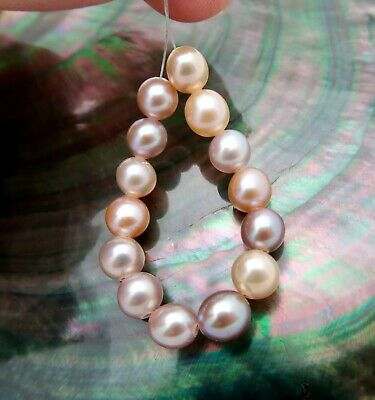 9-10x10-12mm Gray drop Edison Pearl,high luster,Gray Freshwater Pearls AA