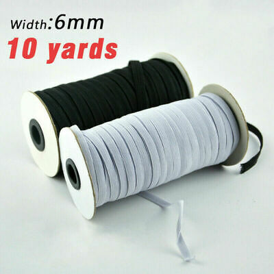 10 Yards Length DIY Braided Elastic Band Cord Knit Band Sewing 1/4 inch US