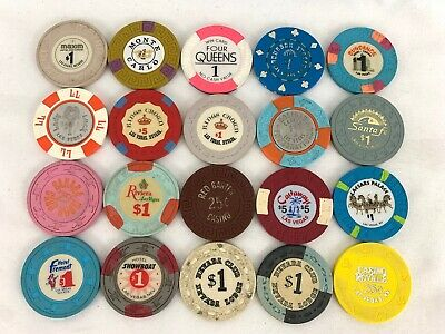 Nice Lot Of 20 Las Vegas Nevada Casino Chips All Different!