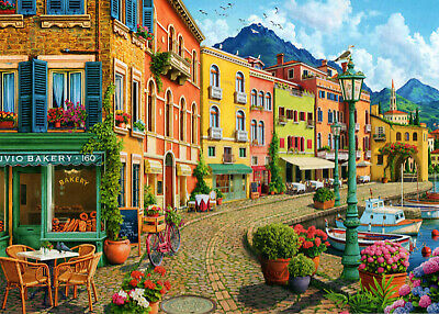 500 Pieces Jigsaw Puzzle Cobbled Harbour - Brand New & Sealed