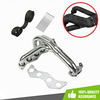 BETTERCLOUD Stainless Steel Exhaust Headers Manifold X Pipe Fit for Chevy Corvette 05-13 C6 LS2 LS3 4-1 Long Tube Racing Headers