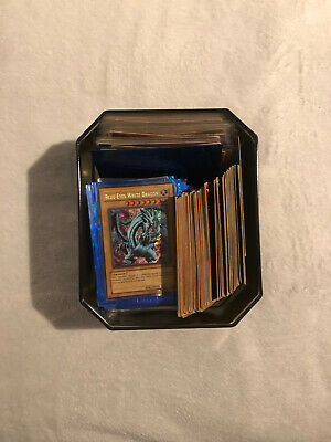 Yu Gi Oh Mixed 200 Card Lot With Limited Edition Tin! 7 Holographic Cards Yugioh