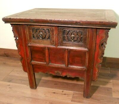"""Antique Chinese """"Butterfly"""" Coffer (5191), Circa 1800-1849"""