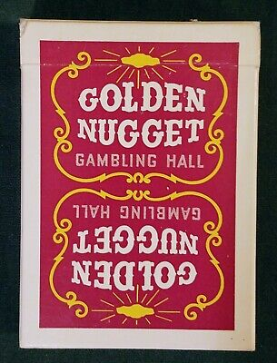 Vintage Red Golden Nugget Playing Cards