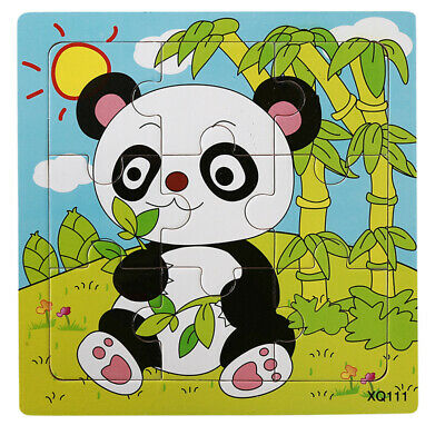 Baby Wooden Cartoon Animal Jigsaw Toddler Kid Early Educational Puzzle Learn Toy