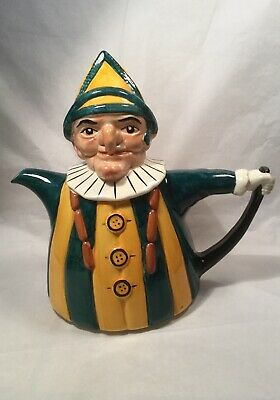 Tony Wood Ceramic Novelty MR PUNCH Teapot Hand Painted