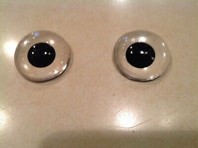 "Vtg. Antique Replacement Glass Eyes for Stuffed Animals,Bears ETC  1 1/4"" wide"