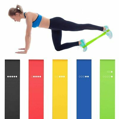 5PCS Resistance Fitness Yoga Loop Bands for Exercise Gym Sports Home Pilate work