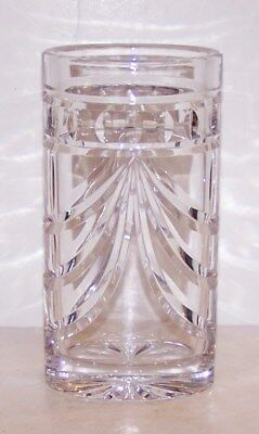 """Lovely Signed Waterford Crystal Beautifully Cut 6"""" Vase"""