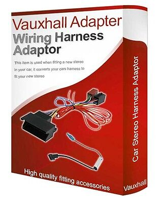 VAUXHALL OPEL WIRING Lead Harness Adapter ISO Car Radio Replacement Plug  Adaptor - $8.99   PicClick  PicClick
