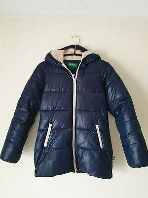 United Colors Of Benetton Girls Navy Padded Jacket, Size: 8-9yrs(140cm)