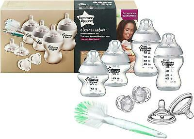 Tommee Tippee Closer to Nature, Newborn Starter Kit, Clear Sensitive anti-colic