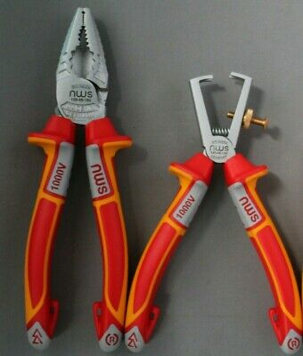 Nws Vde 1000V 2 X Plier Set Combination Pliers + Wire Strippers