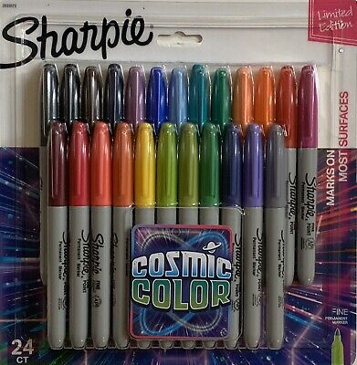 Sharpie Permanent Markers Fine Point-Cosmic Color-Limited Edition-24 Ct-2033573