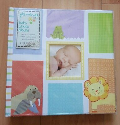 NEW CR Gibson Alphabet Animals Gender Neutral Baby Girl Boy Keepsake Photo Album