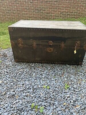 Vintage Steamer Wardrobe Trunk Antique Traveling Dresser
