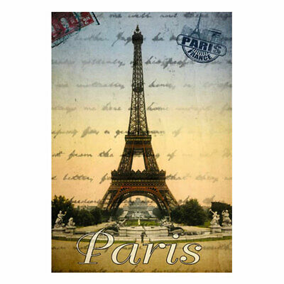 """French Round Terry Cloth Hand Towel Paris Eiffel Towel White Made In France 27/"""""""