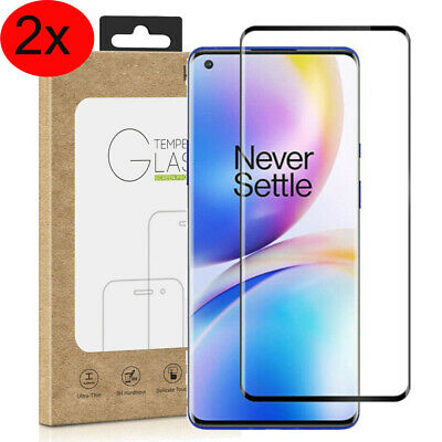 2x For OnePlus 8 / 8 Pro 3D Full Curved Tempered Glass Film Screen Protector