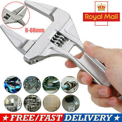 6-68MM Convenient Adjustable Large Spanner Wrench Opening Plumber Reliable Tool